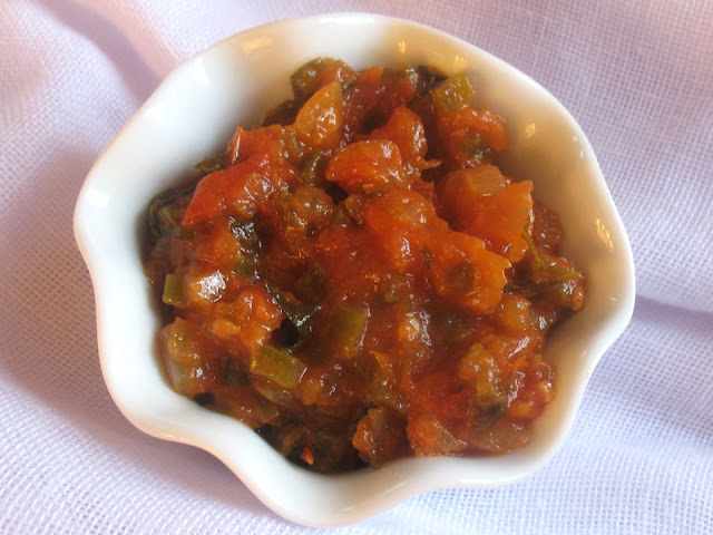 Mexican-style tomato and jalapeno salsa