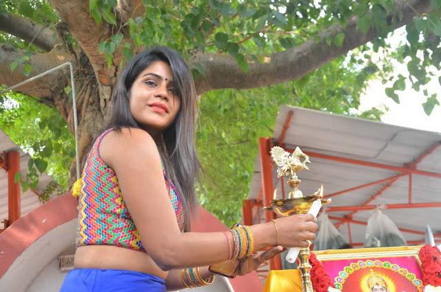 Niharika Stills At Eedili Tamil Movie Pooja
