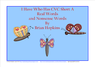 FREE I Have, Who Has Short A Real and Nonsense Words