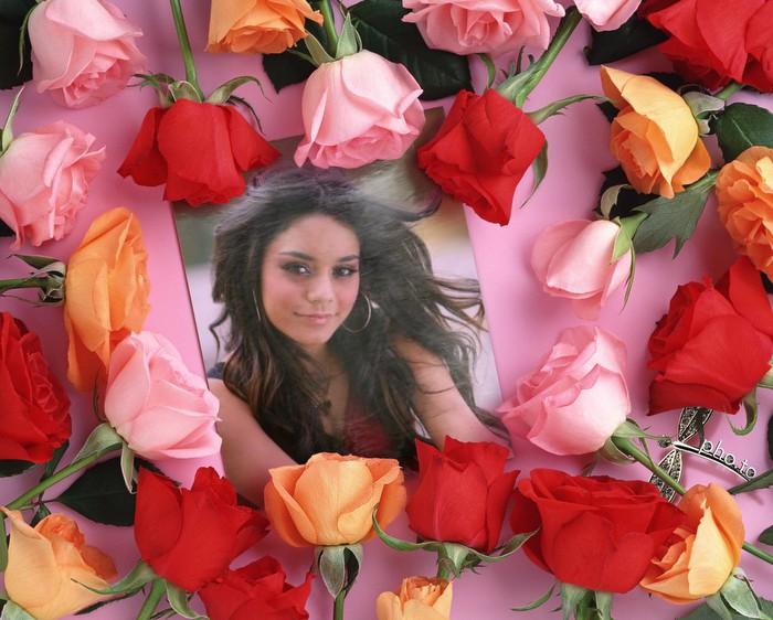 Pagina Para Editar Fotos Fotomontaje Rodeado De Rosas
