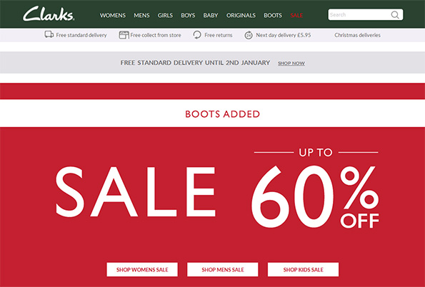 Clarks -60% sale