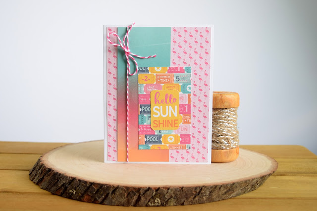 Summer Card by Jess Crafts from Echo Parks Summer Dreams 6x6 Paper Pad