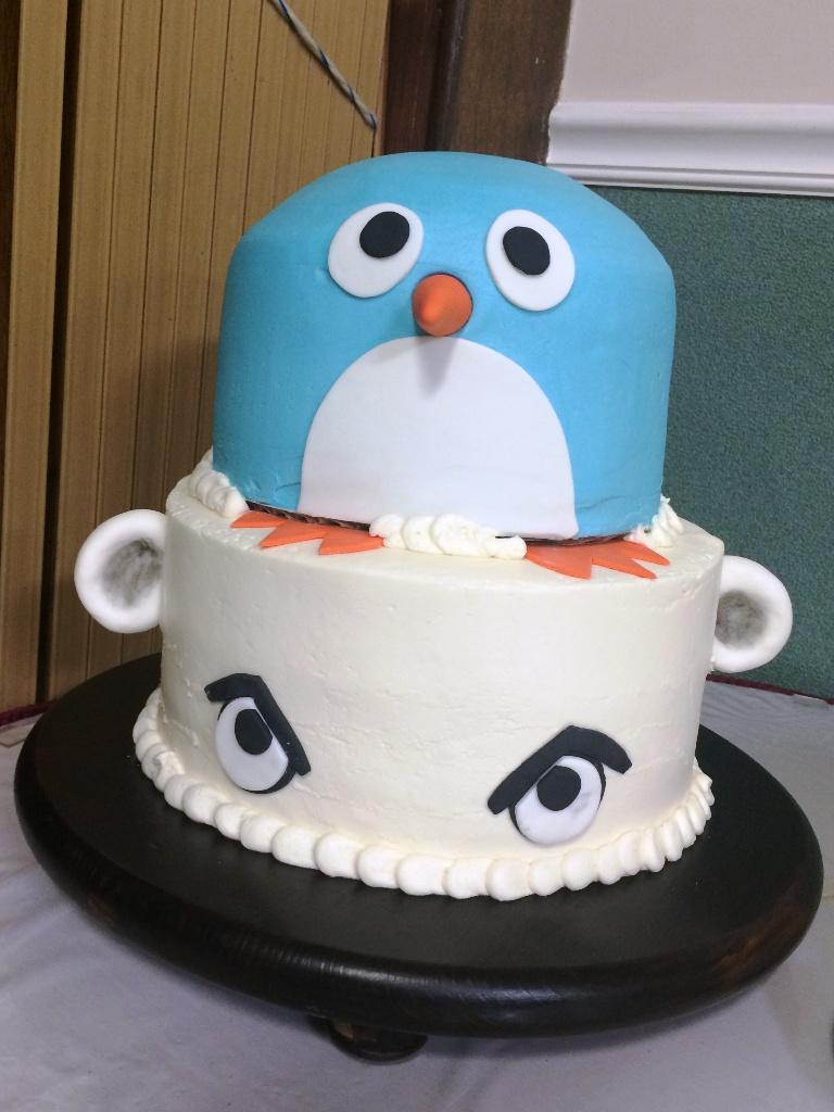 Cookied Oh Penguin On An Angry Polar Bear Birthday Cake