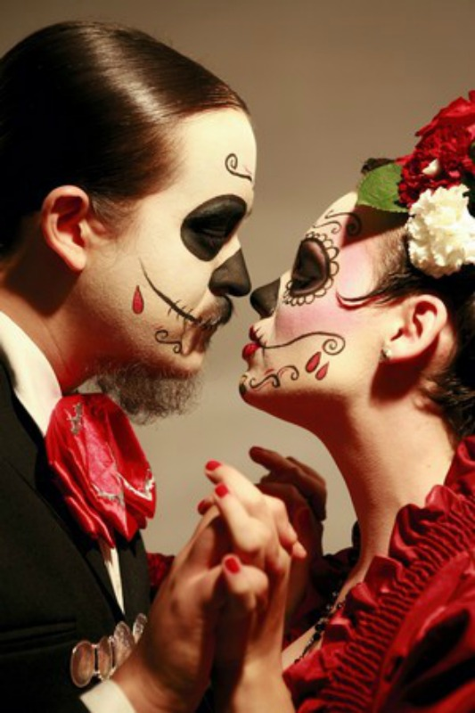 day of the dead makeup couple - photo #3