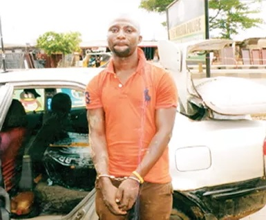 Photo: Indian Hemp Distributor Seun Makinde Arrested In Shagari Estate Ipaja Lagos