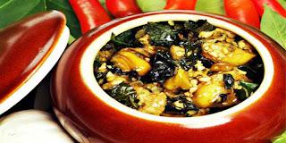 Ốc nấu đậu phụ chuối xanh