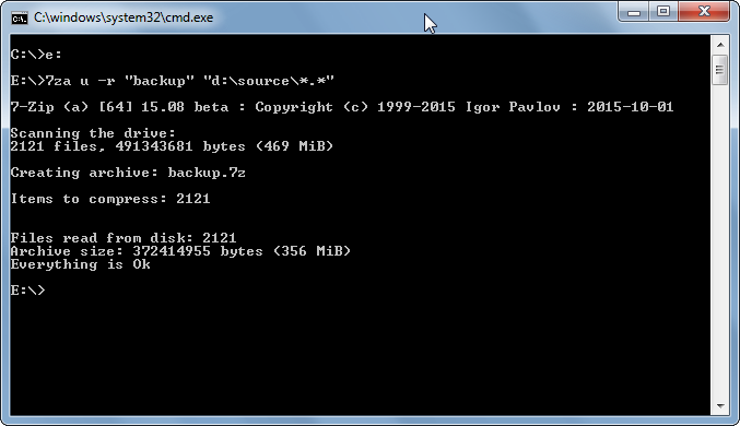 Michael's TechBlog: 7-Zip 7za command line zip tool