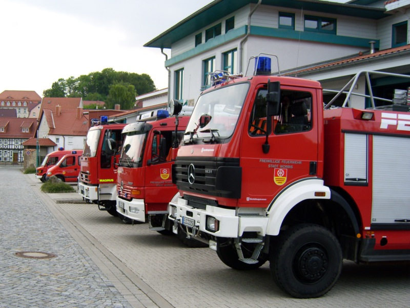Alle Fahrzeuge der Feuerwehr Worbis