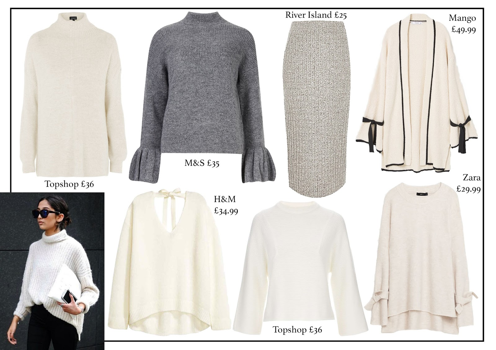 knitwear, aw16, fashion, fashion blog, topshop, m&s, river island, mango, h&m, zara, laura rebecca smith