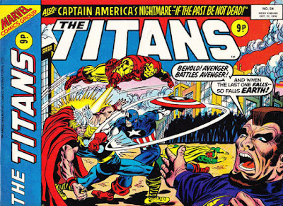 Marvel UK, The Titans #54, Avengers vs Ares