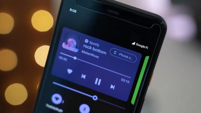 Kontrol dan Media Player Android 11