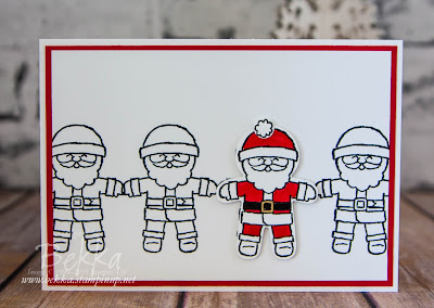 Cookie Cutter Santa's In A Row Get the instructions and materials to make this card here