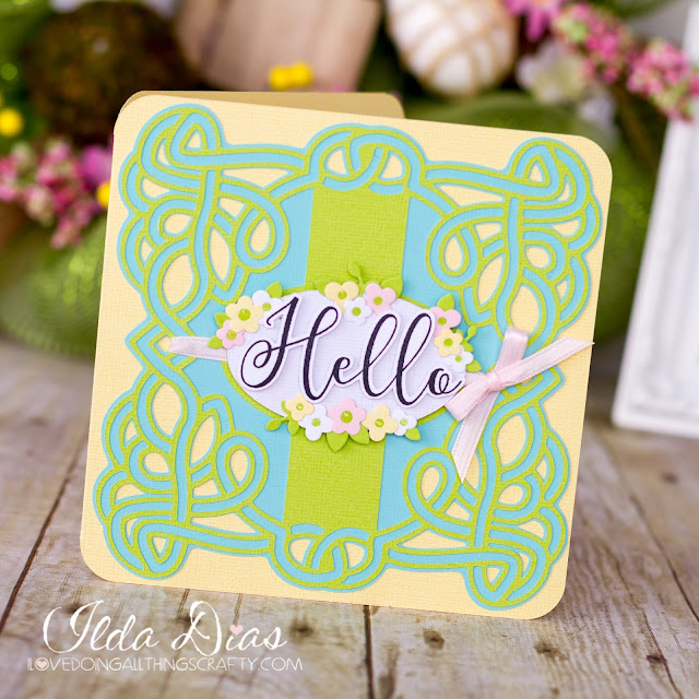 Easter,SVG Cuts files,free svg file,#SVGCuts,Silhouette Cameo,PixScan Mat,Spring,Card,Hello Spring Celtic Card,Simon Says Stamp,dies,Hero Arts,ilovedoingallthingscrafty,