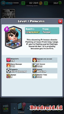 Princess Kartu Legendary Clash Royale