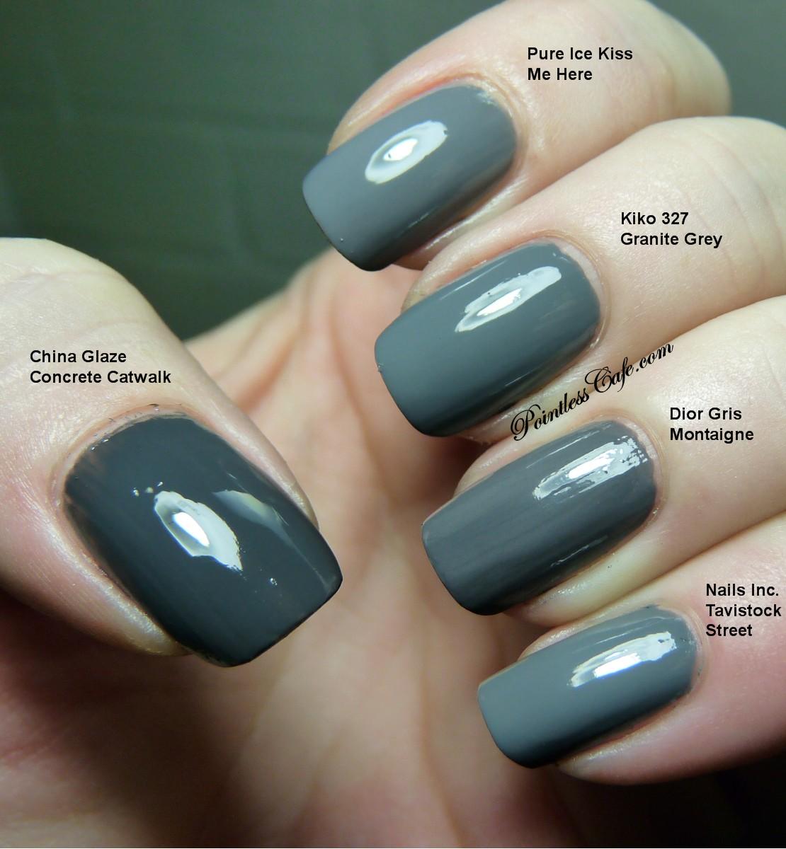 Gris Montaigne Christian Dior nails inc. tavistock street and a grey comparison with dior
