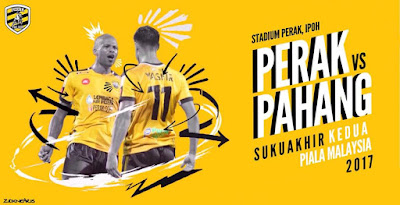 Live Streaming Perak vs Pahang Suku Akhir Kedua Piala Malaysia 24 September 2017