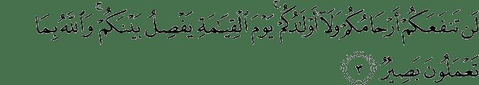 Surat Al Mumtahanah Ayat 3