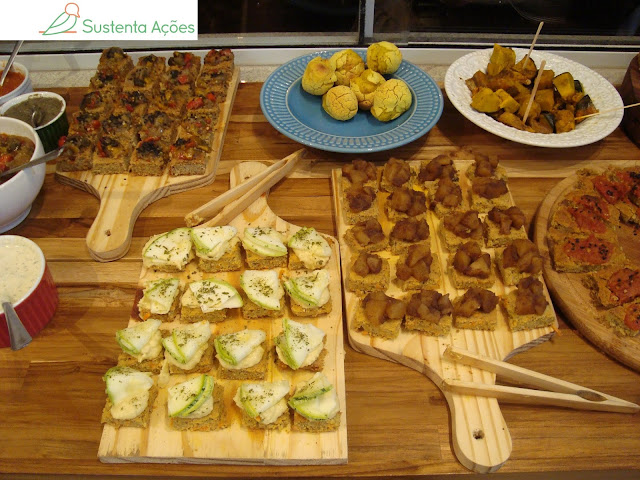 Buffet vegano no restaurante Origem Natural