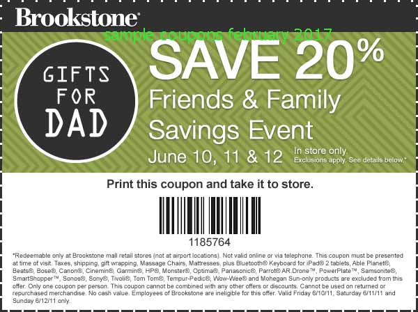Brookstone in store coupons 2018