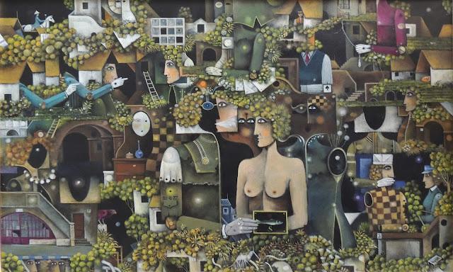 Eduard Alcoy obra arte acrílico lienzo