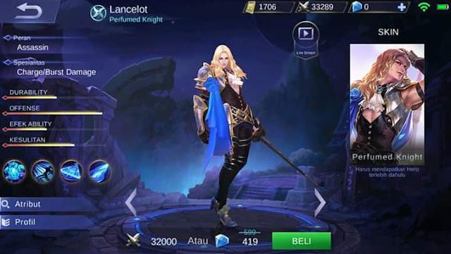 Hero Baru - Lancelot
