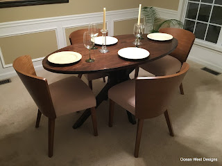 Modern Oval Walnut Dining Table