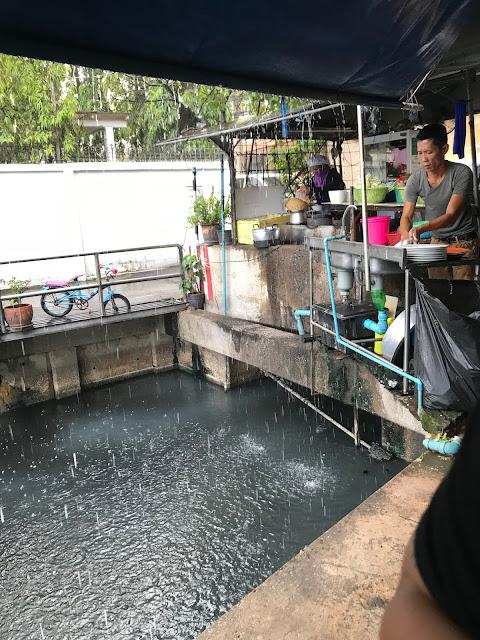 Bangkok, Nhong Rim Klong, rain drain