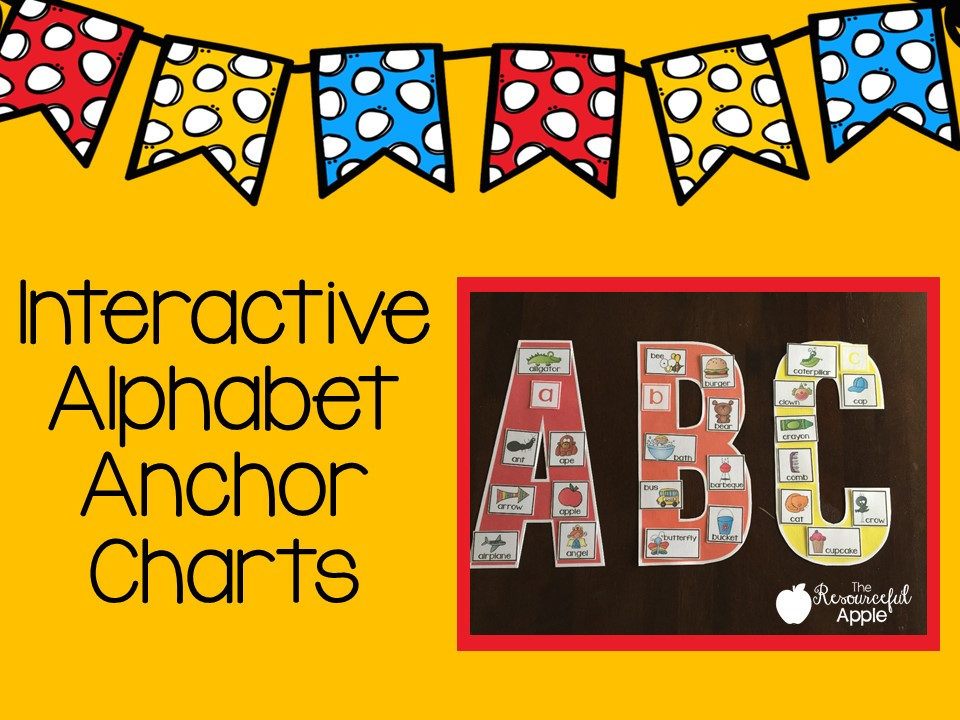 The Resourceful Apple Interactive Alphabet Anchor Charts