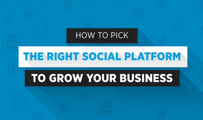 How to Pick the Right Social Media Platform to Grow Your Business - infographic