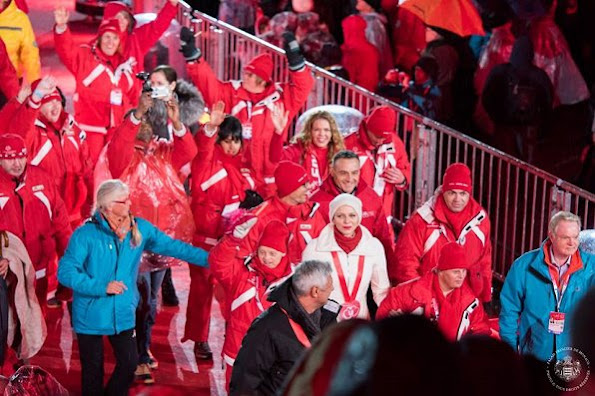 Princess Charlene of Monaco arrived at the opening ceremony of the 'Special Olympics World Winter Games 2017' in Schladming