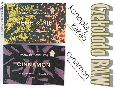 Czekolada Raw z konopią i kakao / cynamonem - Pana Chocolate