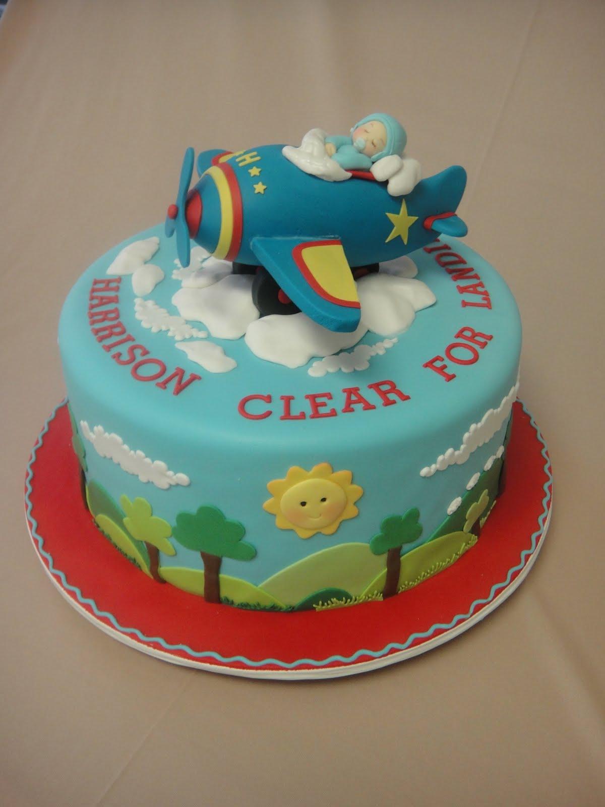 Baby Airplane Cake