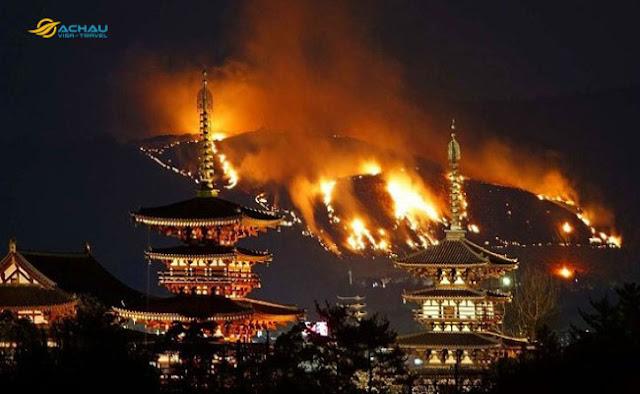 Du lịch Nhật Bản: Lễ hội đốt cỏ dưới chân núi Wakakusa