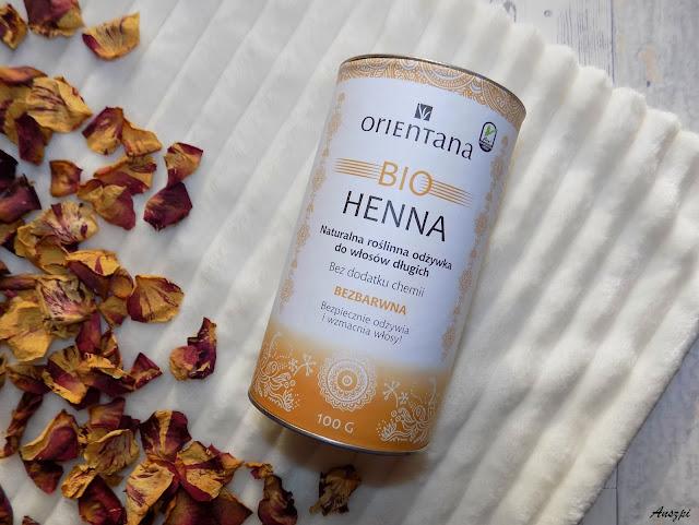 Moje pierwsze spotkanie z henną- Bio Henna bezbarwna odżywka, Orientana