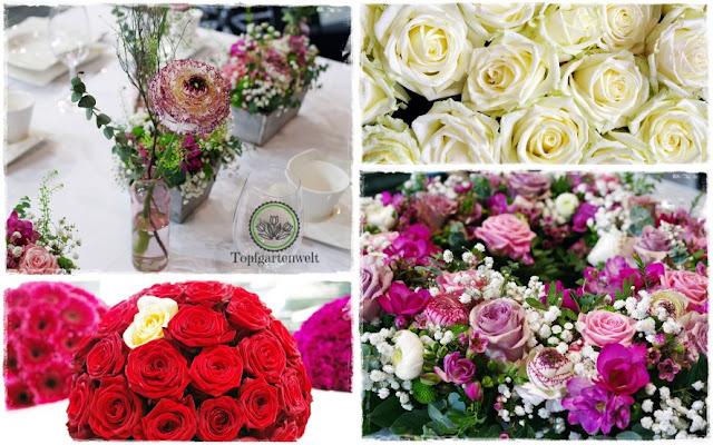Gartenblog Topfgartenwelt Gartenmesse: Garten Salzburg 2017 Hochzeitsfloristik mit Ranunkeln und Rosen