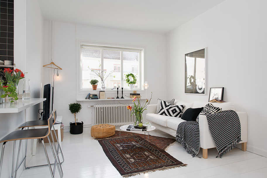 Hogares frescos exquisito y peque o apartamento en for Apartamento muy pequeno