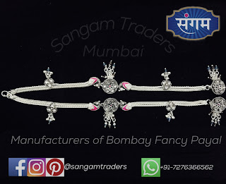 latest design of beautiful silver anklet
