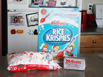 cómo hacer convite krispie arroz para la torta