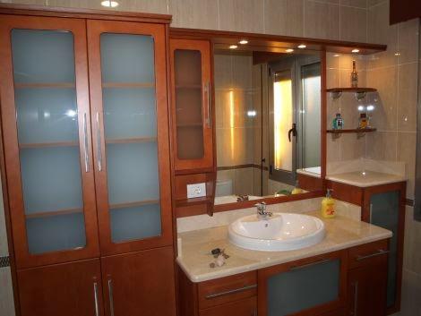 muebles en madera para baños