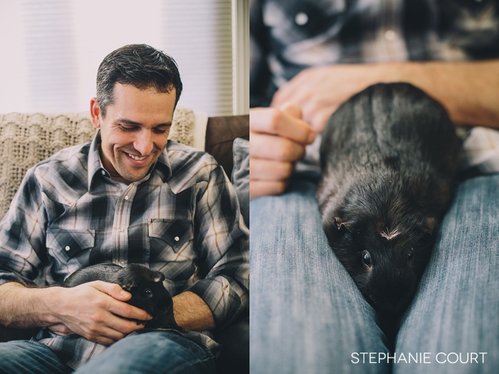 family photos with guinea pigs