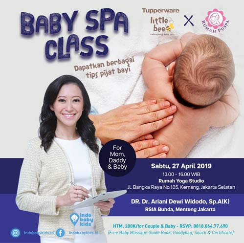 Baby Spa Class For Mom, Daddy & Baby