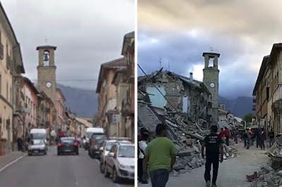 Accumoli, Amatrice, földrengés, Olaszország, természeti katasztrófa, olaszországi földrengés,