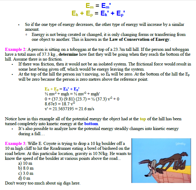 Conservation of energy,mechanical energy, conservatives force,work done on or by system,