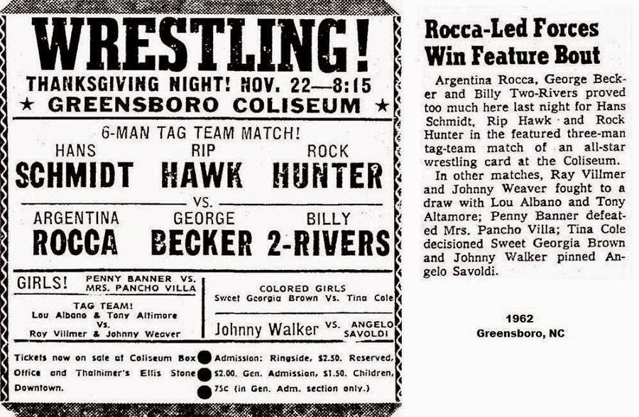 All Star Championship Wrestling: November 22, 1962 in