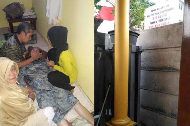 Dzalim, Warga Pingsan Depan Rumahnya Diblok Pagar Beton, Padahal Akses Jalan Warga Puluhan Tahun