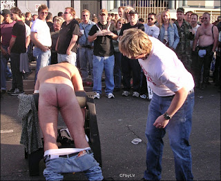 To be spanked in public.
