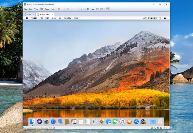 مشكلة تكبير الصورة لنظام  macOS Sierra الوهمي على Vmware