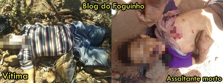 Tentativa de assalto resulta em duas mortes na zona rural de Brejo, vítima e assaltante morreram.