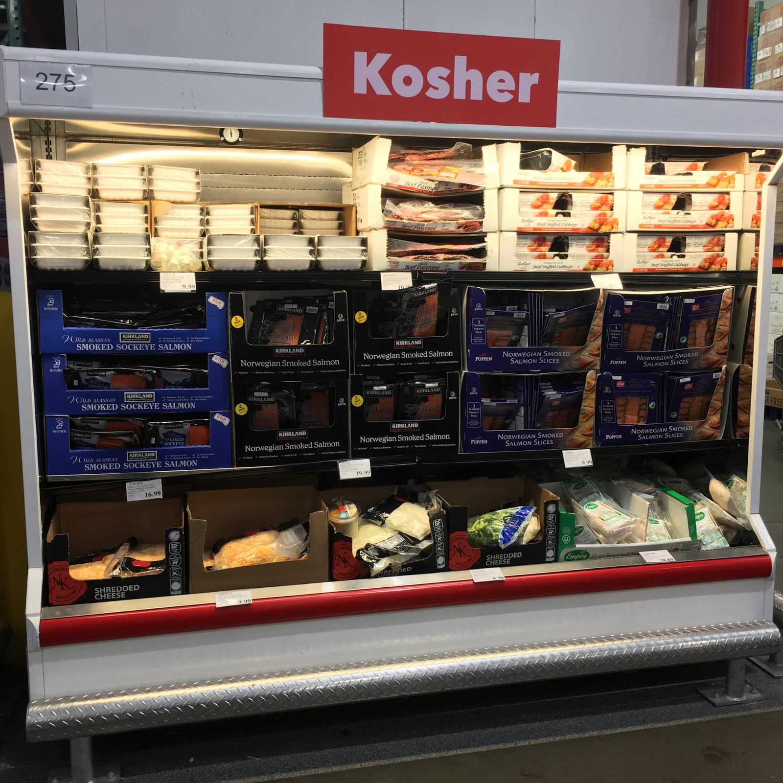 I Love How The Frederick Costco Has A Dedicated Refrigerated Case For Kosher Foods