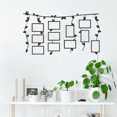 vinilo decorativo pared lianas enredaderas plantas colgantes
